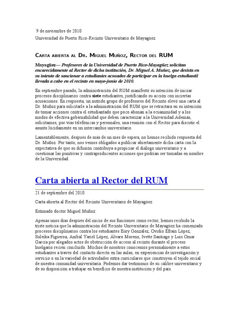Carta abierta al dr miguel muoz rector del rum thecheapjerseys Choice Image