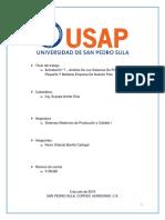 Análisis De Los Sistemas De Producción De La Pequeña Y Mediana Empresa De Honduras