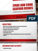 Prepare and Cook Seafood Dishes