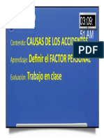 05 Causa de Los Accidentes - Factor Personal