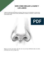 Como dibujar la nariz y los labios