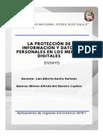 Protección de Información y Datos Personales en Los Medios Digitales