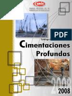 Catálogo Cimentaciones profundas CMIC 2008