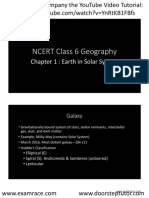 NCERT Class 6 Geography Chapter 1 YouTube Lecture Handouts