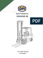 XDXG2530shop Manual En