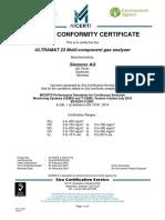 Cert Ultramat23 Gb Metrol Sira Mcerts Mc040033 08