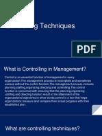 Controlling Techniques