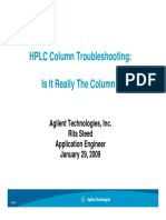 HPLC Column Troubleshooting_012909