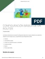 Configuración Básica de Un Router