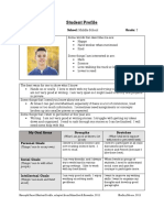 student profile ppt