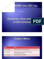 Lecture 2 - Distances, Sizes and Time