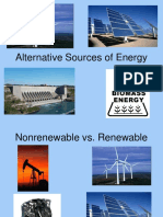 Alternative Sources of Energy