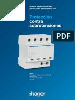 201907 Hager Protección Sobretensiones Especificaciones Endesa