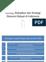 Konsep kebijakan dan strategi ekonomi rakyat di Indonesia