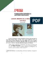 Leonor. Memoria de la niña-esposa de Antonio Machado