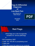 Low back pain differential diagnosis