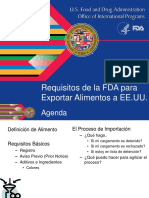 Requisitos de la FDA para exportar alimentos a EEUU