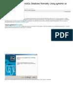 How to Access PostgreSQL Database Remotely Using PgAdmin on Windows