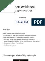 Tom Owen - Expert Evidence in Arbitration - 23 November 2018