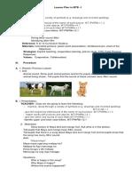 Lesson Plan in MTB-1 Explicit Teaching