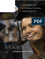 Master Criminal Policy M.A