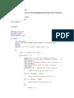 C++ Programming Lab Report