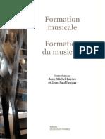 La Formation Musicale - Formation Du Musicien (Ed. Delatour)