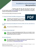 ISO Vocab Best Practices