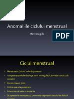 Anomaliile ciclului menstrual