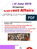 100 Important Current Affairs Month of June 2019