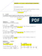 Kidimath Ds 3 Calcul Litteral Equations COR