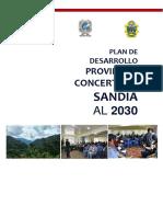Plan de Desarrollo Concertado de Sandia