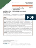 The most used medicinal plants by communities in Mahaboboka, Amboronabo, Mikoboka, Southwestern Madagascar