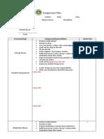 TEMPLATE Assignment Plan (Nursing)