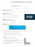 calcul litteral + correction