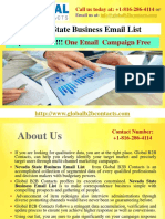 Nevada State Business Email List