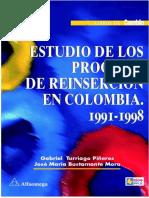Estudio Sobre Los Procesos de Reinserción en Colombia 1991-1998
