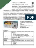 Catalogue - Oil Insulation Tester - Ots-pr-cg-100