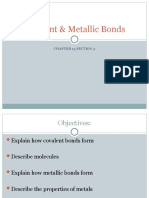 Covalent & Metallic Bonds Ch 13.3 8th