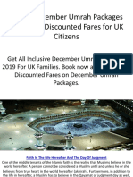 Cheap December Umrah Packages 2019 With Discounted Fares