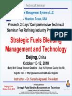 Strategic fuels blending