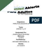 Actividad v Y VI Practica Docente III