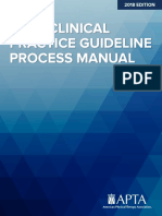 APTA Clinical practice guideline process manual