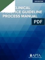 APTA Clinical practice guideline process manual
