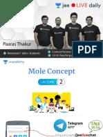 [L2]- Mole Concept JEE