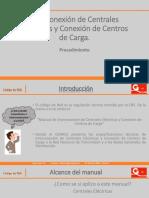 Pasos Interconexión de Centrales Eléctricas y Conexión de Centros
