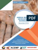 Annual Mineral Development Scorecard 2016 PDF