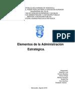 Grupo #1 Trabajo Elementos de La Admisnistracion Estrategica