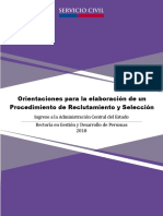 Orientaciones para la elaboración de un Procedimiento de Reclutamiento y Selección