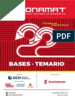 Bases y Temario - Conamat 22 Uch 2019